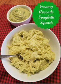 Creamy Avocado Spaghetti Squash (