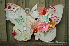 A little bit of fairy magic and FWAB I've had this Kaiser Craft butterfly sitting on my desk for a few weeks now, last week I final. Flourish, Butterfly, Bling, Christmas Ornaments, Holiday Decor, Projects, Crafts, Design, Log Projects