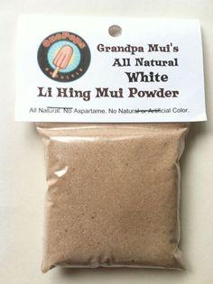 All NATURAL White Li Hing Mui Powder No Aspartame No Artificial Color 2 Ounces  #lihingmui