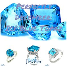 Icy Blue Topaz - Perfect for December