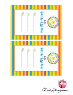 Free easter printables party invitations with cute chick.  #invitations #Easter #printables
