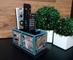 Porta Controle Mod1 Cinema Azul