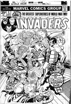 Cover to INVADERS #4 by Jack Kirby and Frank Giacoia
