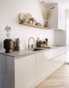 Kitchen Trends, Kitchen Sets, Ikea Kitchen, Home Decor Kitchen, Kitchen Furniture, Home Kitchens, Modern Kitchen Design, Interior Design Kitchen, Modern Design