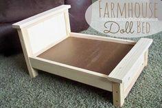 DIY Farmhouse Doll Bed for American Girl Dolls