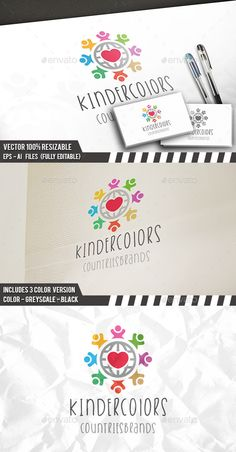 Kids World Brand	 Logo Design Template Vector #logotype Download it here: http://graphicriver.net/item/kids-world-brand-logo/12186209?s_rank=993?ref=nexion