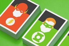 super heros carte flash et green lantern