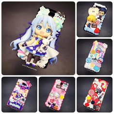 Mah phonecase's collection  Thank you so much for the owners of these phone cases  #cutiecorner #decoden #cabochon #jelly #glitter #whippedcream #resin #supplier #diy #materials #wholesale #retail #handmade #decorate #phonecase #keychain #keyring #mirror #kawaii #figure #anime #manga #otaku #worldwide #shipping #hcmc by thecutiescorner