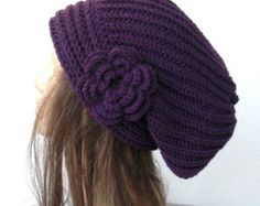 You can use this Slouch beanie in winter and fall season. I choose the yarn is composed of 50 % wool and 50% acrylic.Acrylic gives the softnes of the wool. I am knitting all my items with best quality Yarn. Has enough room to wear your hair tucked up into...great for any hair style, color, type or head size. One size fits most...from teens to women. Custom orders are always welcome. My dearest visitors from all over the world , who loved and purchased my Hats also want from me to make…