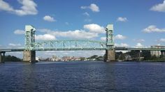 Wilmington NC - Cape Fear Memorial Bridge & downtown riverfront  (A. Davis photography)