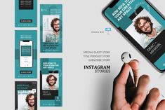 Young podcast talk ig stories and post keynote template Instagram Design, Instagram Story, Instagram Posts, Instagram Feed, Company Presentation, Editing Pictures, Keynote Template, Special Guest, Design Bundles