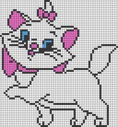 Marie - The Aristocats perler bead pattern