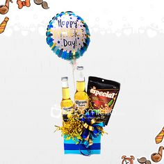 Best Dad Gifts, Gifts For Dad, Food Bouquet, Preschool Coloring Pages, Balloon Decorations, Cool Diy, Homemade Gifts, Gift Bags, Gift Baskets