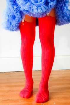 bdb73a2a1bc CLASSIC RED Ribbed Cashmere THIGH High Stockings - Over the knee Winter  Socks - Burlesque stockings - Colour Tights - Bright Red Tights