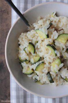 La cucina spontanea: Risotto con croste di parmigiano e zucchine