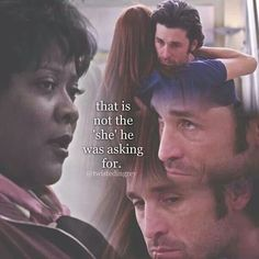 """That is not the 'she' he was asking for."" Adel Webber to Richard Webber about Derek asking how Meredith was, not Addison. Grey's Anatomy quotes"