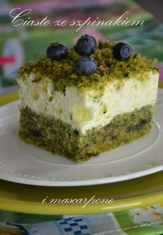 Przepisy Magdy: Ciasto ze szpinakiem i mascarpone Spinach Cake, Polish Recipes, Food Cakes, Cheesecakes, Bon Appetit, Food To Make, Tart, Nom Nom, Cake Recipes