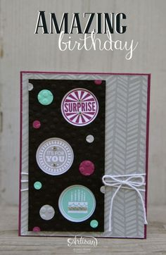 Convention Display Samples ~ Amazing Birthday | SleeplessStamper.com