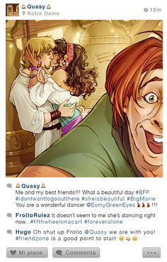Selfie Fables | Quasimodo, Esmeralda and Phoebus by SimonaBonafiniDA