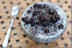 Black Quinoa Blueberry Pudding