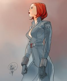 Black Widow by Otto Schmidt - comicbooks Avengers Art, Marvel Art, Marvel Movies, Marvel Heroes, Otto Schmidt, Character Sketches, Female Character Design, Character Illustration, Animation Character