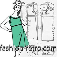 Модель платья без рукавов с завышенной линией талии. Горловина, проймы и линия талии подчеркнуты контрастной бейкой.  Для пошива платья данной модели понадобится: ткань плательная, костюмная, плотный шелк, тонкая шерсть, сатин, бязь и др. Это рекомендации из прошлого. В наше время к рекомендованному списку можно прибавить большой перечень тканей, например, первое, что пришло на ум - это из недорогих материалов: габардин, джерси, креп и пр.