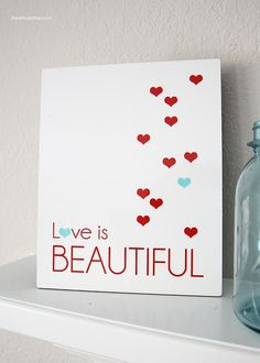 Love is beautiful sign with #shutterflydecor + a free printable download