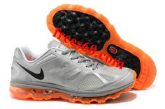 frees60.com for half off nike shoes $62.47 , Mens Nike Air Max 2012 Metallic Silver Black Total Orange Shoes