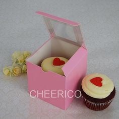 Pink Cupcake Boxes by www.CupcakeBoxes.com.au --- Cheerico