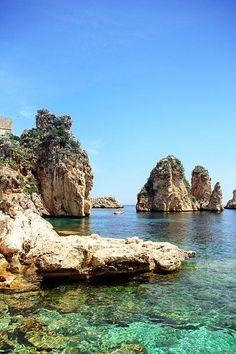 The stacks of Scopello, Sicily