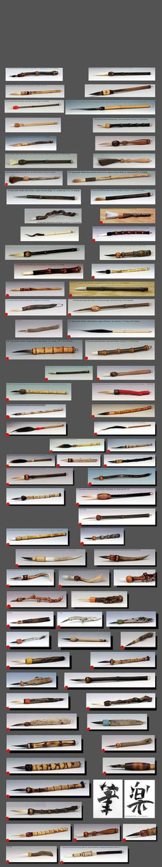 Handmade Brushes by Ron Mello Watercolor Brushes, Paint Brushes, Brooms And Brushes, Art Studio Storage, Bookbinding Tools, Shading Drawing, Calligraphy Tools, Ceramic Tools, Traditional Ink