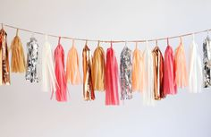 Tassel Garland rocks our world. From confettisystem.bigcartel.com