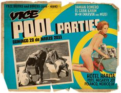 Cleaning off my hard-drive today I came across this digital GIF flyer I made for VICE Mexico's pool party event series while I was living in Mexico City in 2011. The GIF went unused—not entirely sure why—but I am sure it's one of the best animated flyers I've ever made, so I thought I would share. It's a comp of images from a vintage smut magazine I picked up at a swap meet and some excited, adorable otters, set to the theme of a vintage Mexican pulp movie poster. I t...