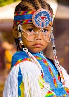 Beaded Native American Child Dancer