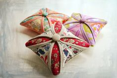 Lovely cathedral windows pincushions using Liberty prints (amongst others) by Bear, Dolly and Moi: April 2012