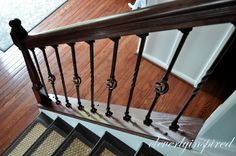DIY Iron Spindles for a Staircase: Video - Cleverly Inspired