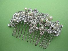 Wedding pearl combbridal hair combbridal hair by EverythingBride, $59.00