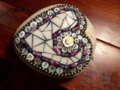 Mosaic+Button+and+Stained+Glass+Valentine+Rock+by+MayhewMosaics+on+Etsy