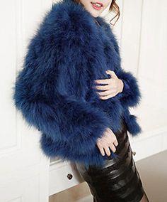 e8367fb4857 Sapphire blue Real Ostrich Feather Fur coat Shrug Jacket Wedding bolero  bridal Wedding Bolero, Bridal