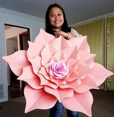 PDF Giant 40 Inch Flower The Rosa Mystica Paper Flower