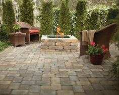 This Square Fire Pit Uses RumbleStone Pavers In A Color Called Sierra  Blend. The Kit. Pavers PatioPatio StoneStone ...