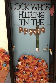 35 Best Classroom Decoration Ideas for Fall - Chaylor & Mads The best fall classroom decorations including the cutest fall bulletin board ideas, door decorations, cute signs and tons of DIY ideas. October Bulletin Boards, Preschool Bulletin Boards, Classroom Board, Classroom Bulletin Boards, Classroom Ideas, Holiday Classrooms, Kindergarten Classroom Door, Bullentin Boards, Future Classroom
