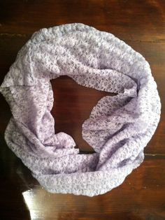 Light blue lace cowl scarf by MrsCaudillDesigns on Etsy, $15.00