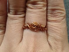 How to make simple twisted round ring for beginners