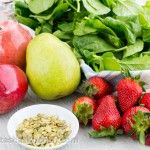Fruit and Spinach Salad with Strawberry Vinaigrette