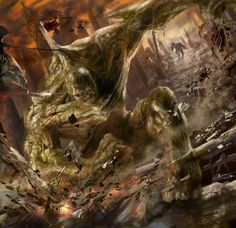 Incredible Hulk and Abomination.