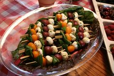 Italian Themed Bridal Shower // antipasto skewers
