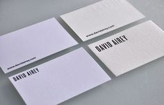 Minimalist business cards.  My type.  My fave<3