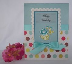 Find lots of handmade card samples for making birthday cards, Easter cards and homemade Valentine cards using craft punches and fun embellishments. Description from card-making-corner.com. I searched for this on bing.com/images
