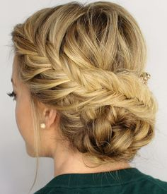 Hot Fishtail Braided Updo Hairstyles 2015